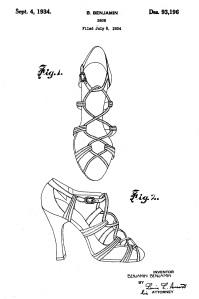 Shoe Patent 1934
