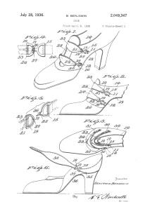 Shoe Patent 1936
