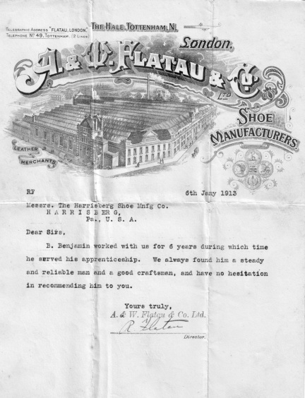Letter of Reference 1913 - Version 2