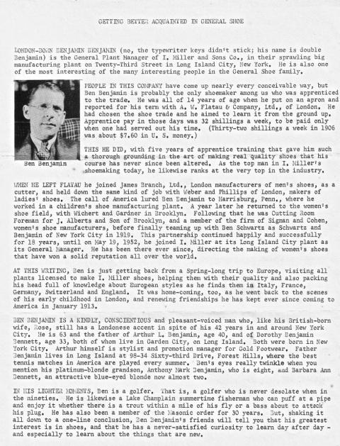 B.Benjamin Bio 1954