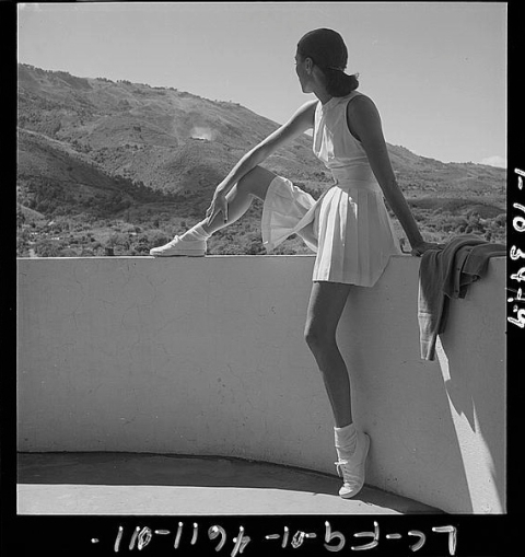 Courtesy The Library of Congress. Tennis Outfit, 1947 Toni Frissell