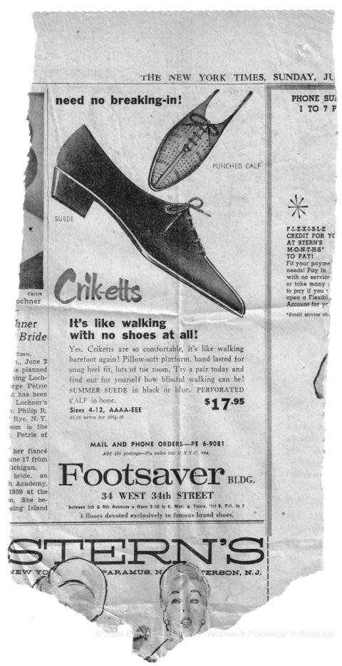 Crik-etts Ad NYT June 3 1962