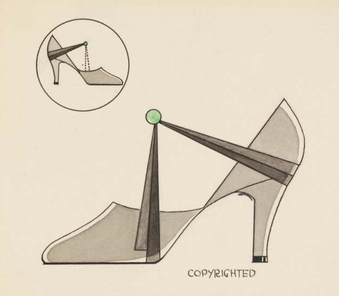 Design by Henry Dreyfuss for Delman Shoe Company, 1929 (Cooper-Hewitt)