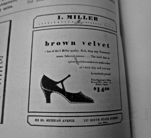 I. Miller Brown Velvet, 1929