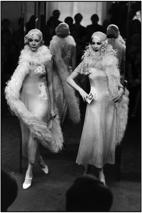 FRANCE. Paris. Fashion parade organized by Jean Louis SCHERRER. 1974.