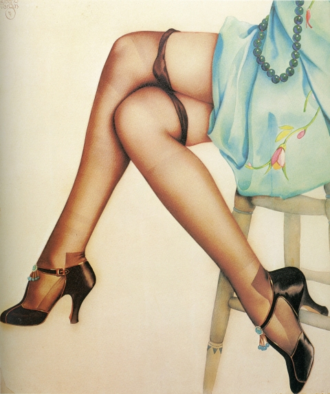 A severely damaged Ziegfield poster, circa 1920 with lower portion preserved.Source: Vargas, Alberto Vargas and Reid Austin Bell Publishing Company