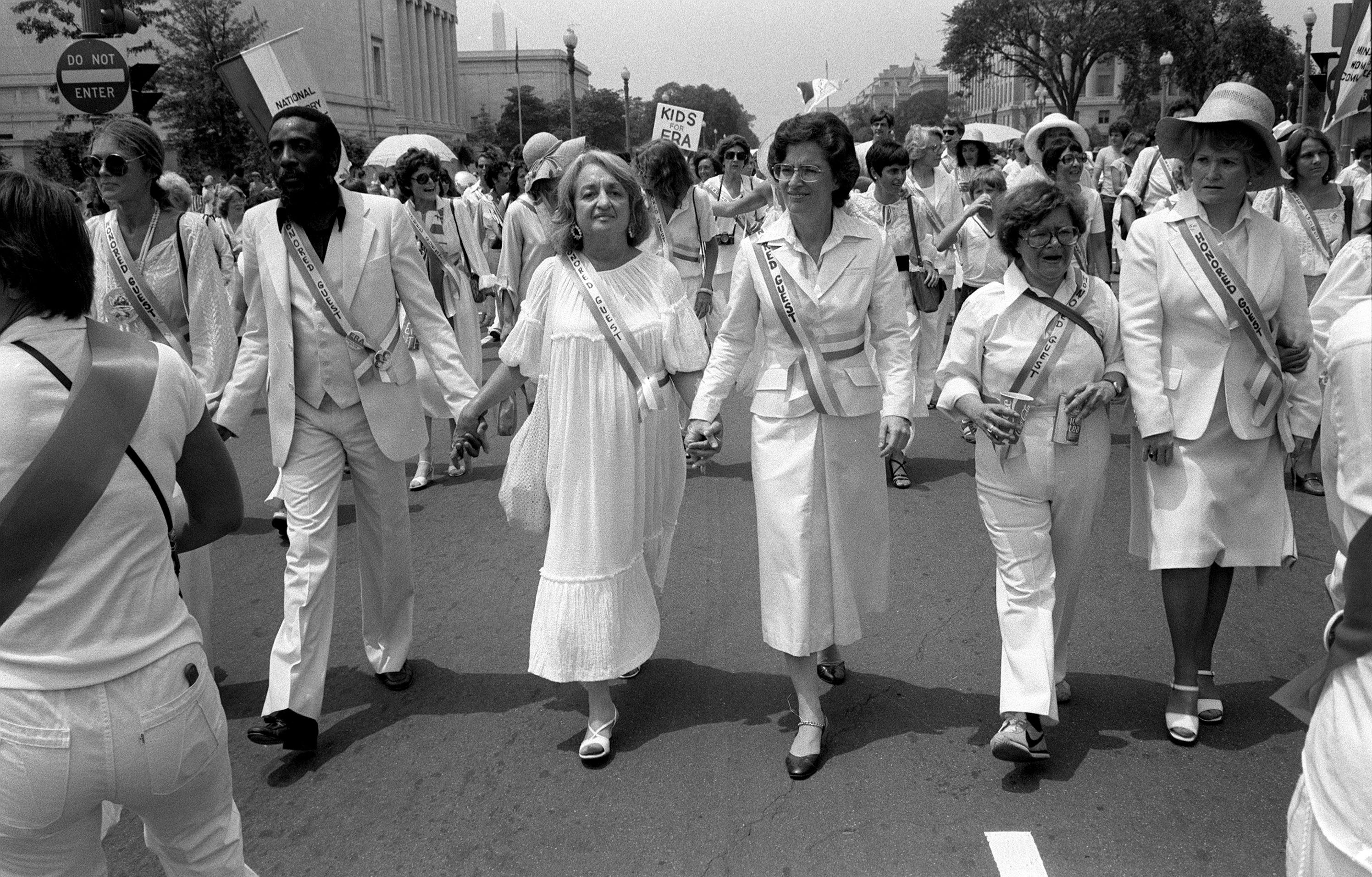 746e18d117c1 Leading supporters of the Equal Rights Amendment march in Washington on  Sunday